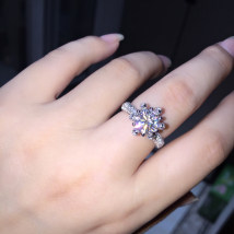 Ring / ring other Over 3000 yuan GEMESIS DIAMOND brand new Custom made Japan and South Korea female Fresh out of the oven White gold / K white gold inlaid gems other