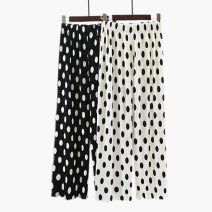 Casual pants White, black M, L Spring 2021 trousers Wide leg pants High waist Versatile Thin money 51% (inclusive) - 70% (inclusive) Other / other