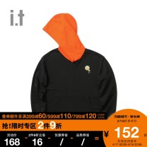 Sweater / sweater Autumn of 2018 BKX / black NYD / old sea blue orx / orange XS S M L XL Hood 81% (inclusive) - 90% (inclusive) izzue cotton IZXSWJ3122F8B Cotton 87.6% polyester 12.4% Same model in shopping mall (sold online and offline)