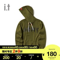 Sweater Youth fashion izzue BKX / black KHX / khaki whx / white S XL L M other Socket Hood easy youth tide IZXSWR3212F8B Cotton 100% Autumn of 2018 Same model in shopping mall (sold online and offline) Other styles