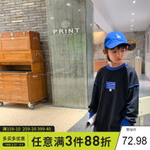 Sweater / sweater Xiaoxing Black, blue (diamond leather label), white (diamond leather label) male 130cm,140cm,150cm,160cm,170cm spring and autumn nothing college Socket routine There are models in the real shooting Cotton blended fabric other Other 100% Twy21606 Class B