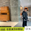 suit Xiaoxing Black, gray 130cm,140cm,150cm,160cm,170cm male spring and autumn leisure time Long sleeve + pants 2 pieces routine There are models in the real shooting Socket No detachable cap other other children Expression of love Ttz21602 Class B Other 100%