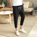 Casual pants Others Youth fashion Black, dark gray, white, Navy, light gray, red, army green, khaki S. M, l, XL, 2XL, 3XL, 4XL, 5XL, XS (plus small) thin Ninth pants Other leisure Self cultivation Micro bomb summer teenagers tide 2019 Medium low back Little feet Haren pants Pocket decoration