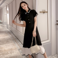 Women's large Summer 2020 Picture color Dress singleton  commute easy moderate Socket Korean version Medium length 71% (inclusive) - 80% (inclusive) Medium length Princess Dress