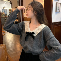 Fashion suit Winter 2020 Average size Grey sweater, black skirt 523 18-25 years old