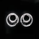 Ear Studs Синтетический кубический цирконий / алмаз другой / другие 51-100 юаней прозрачный Япония и Южная Корея женщина новый акции Свежеиспеченный Инкрустированный искусственный камень / полудрагоценный камень Любовь / Капли воды / Колокола