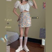 Fashion suit Summer 2020 Size M (90-100kg), l (100-120kg), XL (120-140kg), 2XL (140kg-160kg), 3XL (160kg-180kg), 4XL (180kg-200kg) Top, skirt 18-25 years old xz/jr 30% and below cotton