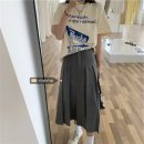 skirt Summer 2021 S (80-90 kg), m (90-100 kg), l-plus (100-120 kg), XL (120-140 kg), 2XL (140-160 kg), 3XL (160-180 kg), 4XL (180-200 kg) grey Mid length dress commute High waist Pleated skirt Solid color 18-24 years old xz/jr Korean version