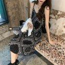 Women's large Summer 2021 Knitted cardigan, suspender skirt Average size (80 ~ 100kg), l plus (100 ~ 120kg), XL (120 ~ 140kg), 2XL (140kg ~ 160kg), 3XL (160kg ~ 180kg), 4XL (180kg ~ 200kg) Dress Two piece set commute Straight cylinder moderate Socket Short sleeve Solid color, Decor Korean version