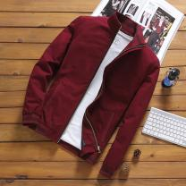 Jacket Other / other Fashion City routine Self cultivation Other leisure autumn Long sleeves Wear out stand collar Business Casual routine Closing sleeve cotton