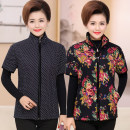 Middle aged and old women's wear Winter 2020 Navy, white dot, Navy, black, red, a decor 1, a decor 2, a decor 3, new Decor 1, new Decor 2, new Decor 3, new Decor 4, new Decor 6, new Decor 7 fashion Vest Self cultivation singleton  Decor 40-49 years old Cardigan thick stand collar routine routine