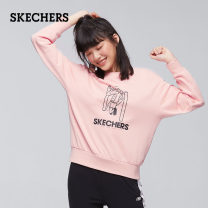 Sweater / sweater Winter of 2019 Carbon black / 0018 medium grey / 004f warm pink / 007E S M L XL XXL XS Long sleeves routine Socket singleton  routine Crew neck routine Solid color 51% (inclusive) - 70% (inclusive) SKECHERS / SKECHERS cotton L419W166 Cotton 54% polyester 46%