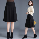 skirt Autumn 2020 M [2-foot-1], l [2-foot-1], XL [2-foot-2], 2XL [2-foot-3], 3XL [2-foot-4], 4XL [2-foot-5] black Mid length dress commute High waist A-line skirt Solid color Type A 30-34 years old Qz65-9906 casual black long skirt 31% (inclusive) - 50% (inclusive) other New European clothes Ol style