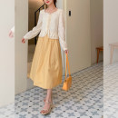 skirt Spring 2021 Average size Ginger  longuette commute High waist A-line skirt Solid color Type A G0324077 51% (inclusive) - 70% (inclusive) other