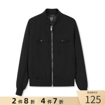 Jacket GXG Youth fashion black routine standard Other leisure spring Long sleeves Baseball collar youth short Zipper placket polyester fiber