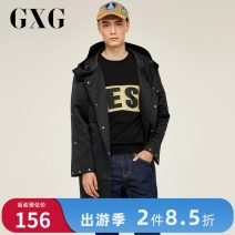 Windbreaker black GXG Youth fashion 165/S,170/M,175/L,180/XL,185/XXL zipper have more cash than can be accounted for standard Other leisure winter youth other Polyester 99% other 1%