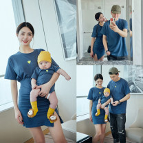 Parent child fashion blue A family of three neutral Other / other A02 summer leisure time routine other Finished T-shirt cotton XL,M,L,S,XXL A02 Cotton 95% other 5% S,M,XL,L,XXL 14, 3, 18, 9, 5, 9, 12, 7, 8, 12, 3, 6, 6, 2, 13, 11, 4, 10 Chinese Mainland