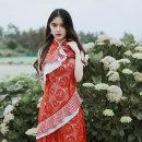 cheongsam Summer of 2019 S (spot), m (spot), l (spot) Sleeveless long cheongsam Retro No slits Oblique lapel Decor polyester fiber 91% (inclusive) - 95% (inclusive)