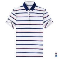 Polo shirt Golden scissors Fashion City thin White, Navy 165/S,170/M,175/L,180/XL,185/2XL,190/3XL Self cultivation Other leisure summer Short sleeve 6233 HN_ F103 Business Casual youth 2019 stripe other other Asymmetry