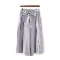 Casual pants Light grey, dark red M Spring 2020 4D049-1 Other / other