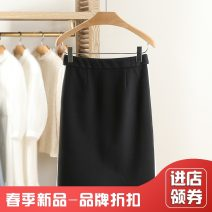 skirt Spring 2021 S,M,L,XL black Middle-skirt High waist 25-29 years old 391T10—2 More than 95% Other / other