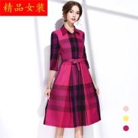 Dress Spring 2020 violet S,M,L,XL longuette singleton  other middle-waisted lattice Socket Big swing other Others Other / other Lace, lace Lace other