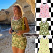 Dress Autumn 2020 White, light blue, pink, black, pink flower power, yellow flower power, Camo S,M,L