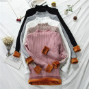 Wool knitwear Spring 2021 Average size White, black, apricot, gray, pink Long sleeves singleton  Socket other 31% (inclusive) - 50% (inclusive) Regular thickening commute Self cultivation Half height crew neck routine Solid color Socket Korean version 18-24 years old fungus