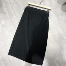skirt Autumn 2020 S,M,L Black, gray, khaki, beige, black, Dark Khaki Mid length dress commute High waist A-line skirt Solid color Type A 31% (inclusive) - 50% (inclusive) Korean version