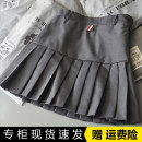 skirt Spring 2021 XS,S,M,L,XL,2XL Short skirt Versatile High waist Pleated skirt Solid color Type A 18-24 years old DRLG998858 AC FOR AG Button, zipper