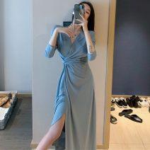 Plain coat Other / other female Average size blue , black , camisole Socket No detachable cap Solid color other