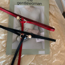 Belt / belt / chain Double skin leather Black, red female belt grace Single loop Youth, youth alloy unclecm