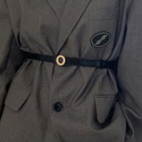 Belt / belt / chain Pu (artificial leather) Black, dark red