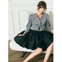 skirt Spring 2021 S,M,L,XL black Short skirt commute High waist A-line skirt Solid color Type A 25-29 years old PR2102CQ645 71% (inclusive) - 80% (inclusive) other Pig house / gentle pig other lady