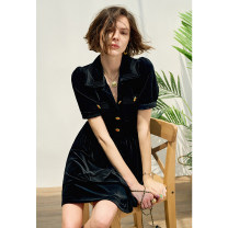 Fashion suit Summer 2021 36,38,40 Black dress, black vest Pig house / gentle pig CH2103CQ270 96% and above polyester fiber
