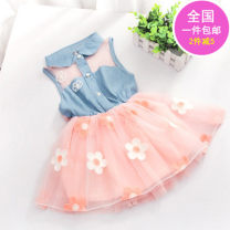 Dress female Other / other 73cm,80cm,90cm,100cm Cotton 95% polyester 5% cotton Class A 3 years, 2 years, 18 months, 9 months, 6 months, 12 months, 3 months
