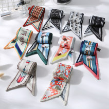 Scarf / silk scarf / Shawl polyester Spring and autumn, summer female Scarves / scarves decorate Korean version rectangle Students, youth, middle age, old age other printing 5cm 90cm 81% (inclusive) - 95% (inclusive) Other / other M-19-4-1