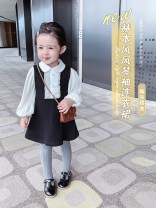 Dress Black and white female Other / other 90cm,100cm,110cm,120cm,130cm Other 100% spring and autumn princess Long sleeves Solid color other Splicing style 2021-3-11-1 other Chinese Mainland Guangdong Province Shenzhen City
