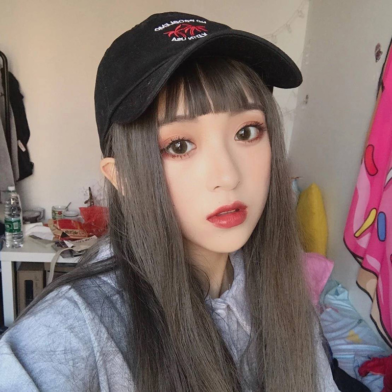 Whole wig Picture color High temperature silk Long straight hair Sweet and lovely Fashion girl Others Other / other Other items