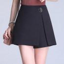 Casual pants black S/26,M/27,L/28,XL/29,2XL/30,3XL/31,4XL/32 Autumn 2020 shorts Wide leg pants High waist commute routine 81% (inclusive) - 90% (inclusive) other Korean version zipper