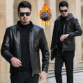 leather clothing New European clothes other black routine Imitation leather clothes Hood Straight cylinder zipper winter leisure time middle age Basic public