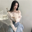 Lace / Chiffon Autumn 2020 S,M,L,XL Long sleeves Versatile Socket Two piece set easy Regular One word collar Solid color puff sleeve 18-24 years old Other / other 81% (inclusive) - 90% (inclusive)