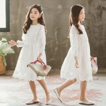Dress white female Other / other 110cm, 120cm, 130cm, 140cm, 150cm, 160cm, 165cm, tip: this one is a little smaller Other 100% spring and autumn Korean version Long sleeves Solid color cotton A-line skirt BRM-F3951# Class B Four, five, six, seven, eight, nine, ten, eleven, twelve, thirteen, fourteen