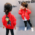 Plain coat Other / other neutral 80cm,90cm,100cm,110cm,120cm gules spring and autumn leisure time Zipper shirt There are models in the real shooting routine nothing Cartoon animation other Crew neck Class B