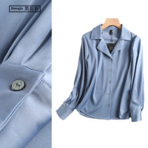 shirt Black, ginger, hazel blue, plum red S,M,L Spring 2020 other 96% and above Long sleeves commute Regular tailored collar Single row multi button shirt sleeve Solid color Self cultivation TRAF Simplicity