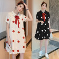 Shirt / Chiffon Short sleeve Other / other White, red, black, collection and purchase ⭐ priority in delivery M,L,XL,XXL Dot Lapel Korean version summer