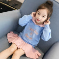 Dress blue female ConnyStyle 110cm 120cm 130cm 140cm 150cm 160cm 165cm 170cm (recommended height 160-170cm) Other 100% spring and autumn Korean version Long sleeves other other Splicing style NB121-1 Spring 2021