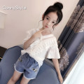 T-shirt white ConnyStyle 110cm120cm130cm140cm150cm160cm165cm170cm female summer Short sleeve V-neck Korean version nothing other Solid color Other 100%