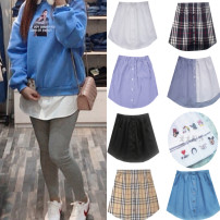 skirt Spring 2021 S. M, l, XL, 2XL, embroidery and T-shirt are one size fits all Short skirt Versatile Natural waist A-line skirt other Type A More than 95% brocade cotton