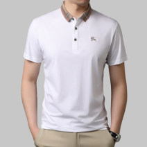 Polo shirt Other / other Fashion City routine White, black, blue, green M,L,XL,2XL,3XL,4XL Self cultivation Other leisure summer Short sleeve Youthful vigor routine youth 2021 Solid color other No iron treatment